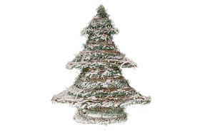 Rattan Kerstboom Met Verlichting En Sneeuw