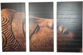 Dijk Natural Collections | Houten Wanddecoratie Boeddha Drieluik