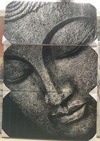 Dijk Natural Collections | Houten Wanddecoratie Boeddha 118 x 4 x 174 cm