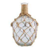 Dijk Natural Collections | Vaas Fles Glas Touw Klein