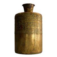 Vaas metaal Ø21x38cm Antiek goud