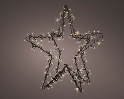 Lumineo 240 LED Kerstster Metaal Met Flashing Effect
