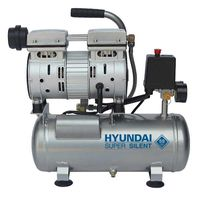 Hyundai Geluidsarme Olievrije Compressor 8 BAR | 6 Liter