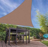 Schaduwdoek Driehoek Zandkleur 3 x 3 x 3 Meter