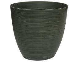Bloempot Donker Groen Strepen 32 x 30 cm