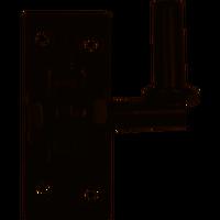 Waelbers Plaatduim Verstelbaar Zwart Ø 16 mm - (29-50)