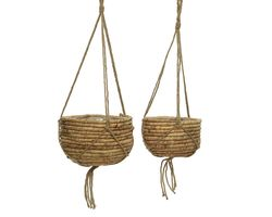 Bloemenmand Set Hangend Waterhyacint Naturel