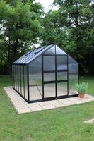 Royal Well Tuinkas Blockley 128 Zwart Gecoat Polycarbonaat 6mm