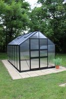 Royal Well Tuinkas Blockley 148 Zwart Gecoat Polycarbonaat 6mm