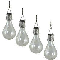 Luxform Solar 4x Bulb Transparant