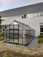 Royal Well Tuinkas Bourton 2010 Zwart Gecoat Polycarbonaat 6mm