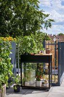 Royal Well Patiokas Vertical Garden Veiligheidsglas 4mm Zwart