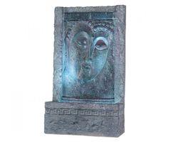 Waterornament Wand Boeddha Zwart Blauw Water