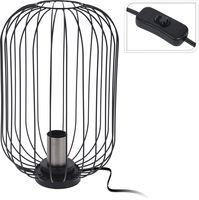 Tafellamp Metaal Zilver Industriele Art Deco Lamp