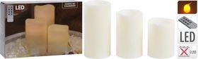 Kerst kaarsen LED wit set 3 stuks