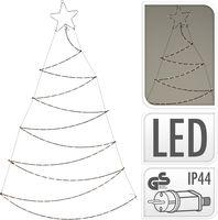 Kerstboom met verlichting 150 LED 89x150cm