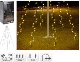 Kerst vlaggenmast verlichting 360 LED warm wit 8 meter