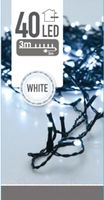 Kerstverlichting 40 LED wit buiten/binnen 3 meter
