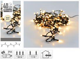 Kerstverlichting 40 LED warm wit buiten/binnen 3 meter
