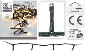 Kerstverlichting 320 LED warm wit buiten/binnen 24 meter