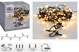 Kerstverlichting 480 LED warm wit buiten/binnen 36 meter