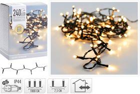 Kerstverlichting 240 LED extra warm wit buiten/binnen 18 meter