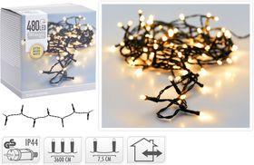 Kerstboomverlichting 480 LED extra warm wit buiten/binnen 36 meter
