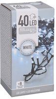 Kerstverlichting 40 LED koud wit buiten/binnen 4 meter