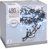 Kerstverlichting 480 LED koud wit buiten/binnen 48 meter