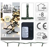 Kerstverlichting 40 LED warm wit buiten/binnen 4 meter
