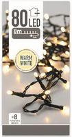Kerstverlichting 80 LED warm wit buiten/binnen 8 meter