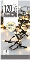 Kerstverlichting 120 LED warm wit buiten/binnen 12 meter
