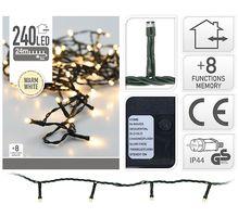 Kerstverlichting 240 LED warm wit buiten/binnen 24 meter