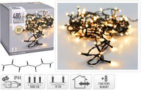 Kerstverlichting 480 LED warm wit buiten/binnen 48 meter