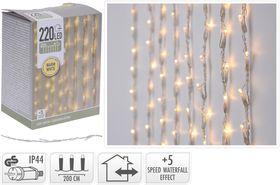 Kerst gordijnverlichting 220 LED warm wit 2 meter