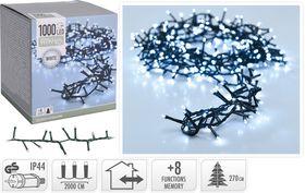 Micro cluster kerstverlichting 1000 LED buiten/binnen 20 meter