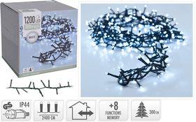 Micro cluster kerstverlichting 1200 LED buiten/binnen 24 meter