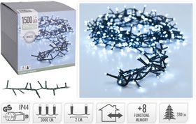 Micro cluster kerstverlichting 1500 LED buiten/binnen 30 meter