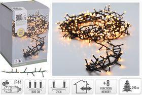 Micro cluster kerstverlichting 800 LED extra warm wit buiten/binnen 16 meter