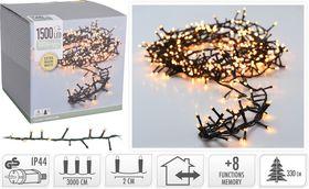Micro cluster kerstverlichting 1500 LED extra warm wit buiten/binnen 30 meter