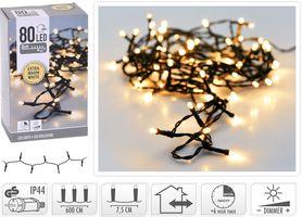 Kerstverlichting 80 LED extra warm wit buiten/binnen 6 meter