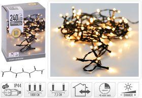 Kerstverlichting 240 LED binnen extra warm wit buiten/binnen 18 meter