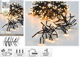 Kerst clusterverlichting 768 LED warm wit buiten/binnen 5.5 meter
