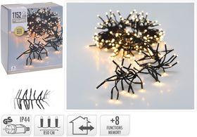 Kerst clusterverlichting 1152 LED warm wit buiten/binnen 8.5 meter