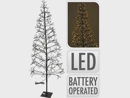 Kerstboom met verlichting 400 LED 180cm
