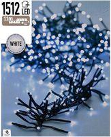Kerst clusterverlichting 1512 LED wit buiten/binnen 11 meter