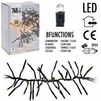 Kerst clusterverlichting 768 LED extra warm wit buiten/binnen 5.5 meter
