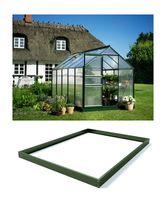 Royal Well Tuinkas en Fundering Popular 106 Groen Polycarbonaat 4mm