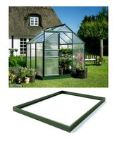 Royal Well Tuinkas en Fundering Popular 66 Groen Gecoat Polycarbonaat 3mm