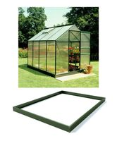 Royal Well Tuinkas en Fundering Popular 86 Groen Polycarbonaat 4mm